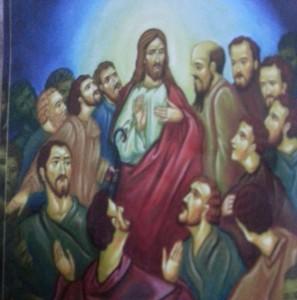 الرب يسوع مع التلاميد